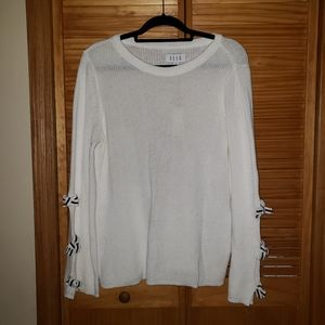 Elle Pullover Long Sleeve Sweaters With Bows XL